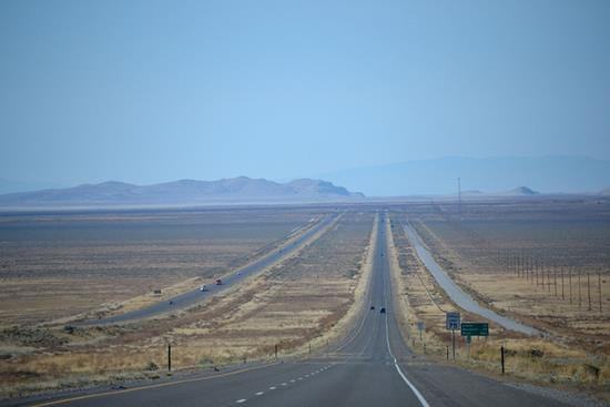 Westbound I-80 Between Clive and Aragonite Exits in Utah, USA